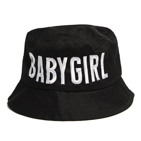 BABYGIRL Style Women's Boonie Fishing Bucket Hat Letters Casual Outdoor Cap - shechoic.com
