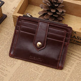 Men PU Leather Wallet Business Wallet Purse Passport Wallet