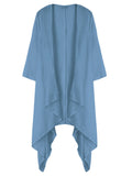Casual Women Solid Color Linen Long Cardigan