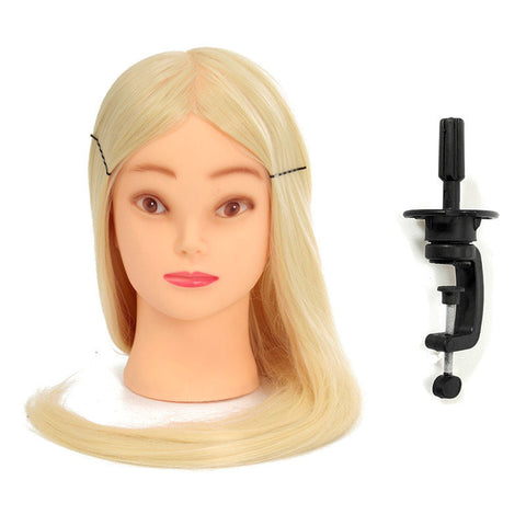 18 Inch Professional Long Hairdressing Mannequin Training Practice Head With Clamp