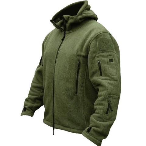 Men Tactical Military Fleece Hooded Outdoor Jacket for Winter