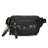 Men Oxford Leisure Multifunction Outdoor Travel Hiking Waist Bag