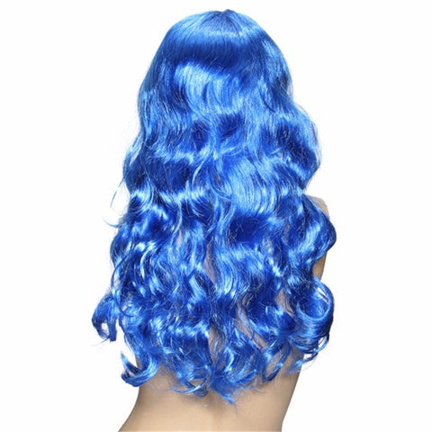 8 Colors Colorful Curly Long Wavy Wigs Party Cosplay Hair
