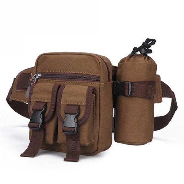 Men Crossbody Bag Canvas Chest Pack Convenient Shoulder Bag