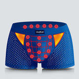 Mens Magnet Antibacterial Health Boxers Modal U Convex Pouch Mesh Breathable Underwears