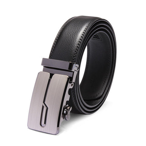 120cm Male Automatic Buckle Cowhide Leather Business Casual Belts - shechoic.com