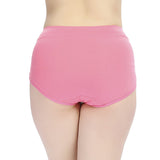 XL-2XL Women Cosy Stripe Cotton Panties Elastic Abdomen Shaping Underwear