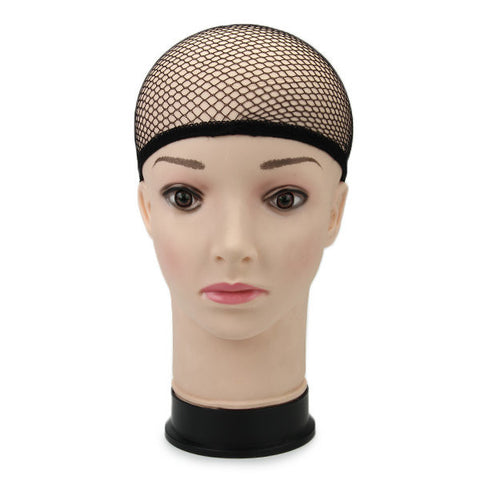 Stretchable Elastic Wig Cap Hairnets Nylon Mesh Liner Weaving Black Hair Nets