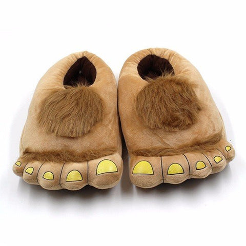 Men And Women Cute Creative Big Toe Fur Slip On Indoor Home Lover Shoes