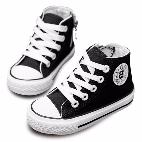 Children Canvas Shoes Boys Girls Breathable Sneakers Student Casual Sports Shoes