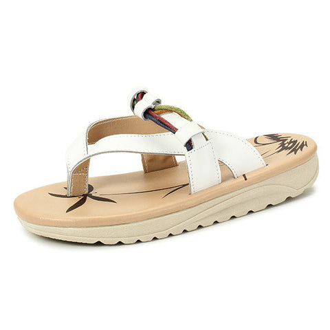 SOCOFY Breathable Summer Casual Clip Toe Beach Flat Slippers