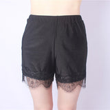 Plus Size Sexy Lace Hem Boyshorts Breathable Safety Boyshorts For Women