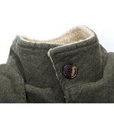 Men's Winter Fashion Jacket Plus Size Sloid Color Slim Thick Warm Casual Coat