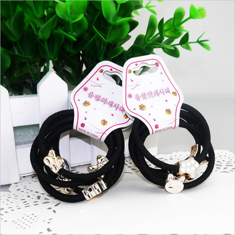 10 Pieces Cute Alloy Small Pendant Decorative Hair Band Girls Hair Ring - shechoic.com