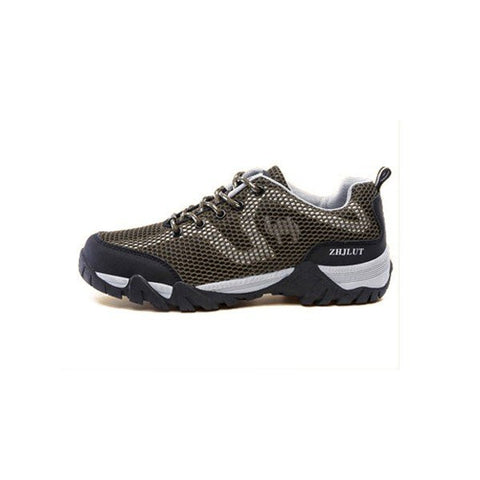 Big Size Men Women Lover Mesh Breathable Anti Skip Lace Up Outdoor Hiking Shoes