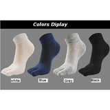 Cotton Breathable Mesh Five Toes Socks Deodorant Sweat Short Tube Socks For Men