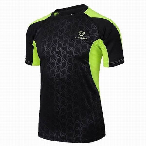GYM Compression Clothing Men's Quick Dry Breathable Short Sleeved Sports Tights T-shirts