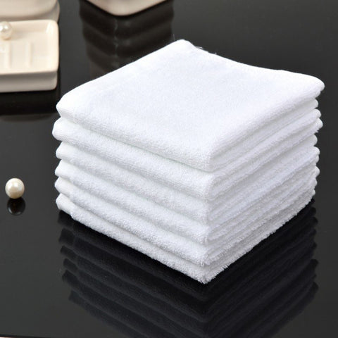 24pcs 12 Inch Cotton Thick White Hand Face Towels Home Hotel Salon Soft Water Absorbent Washcloths