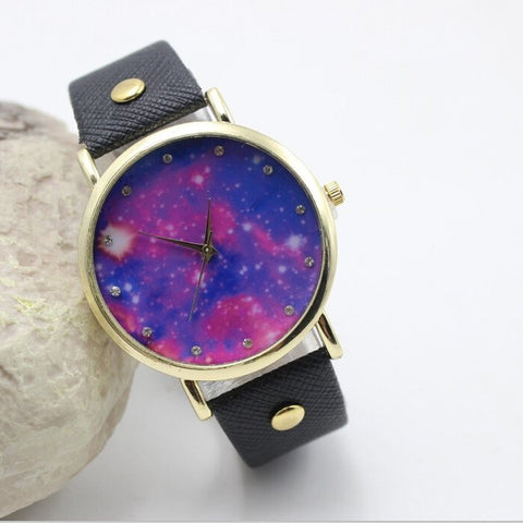 PU Leather Meteor Series Analog Watch