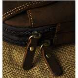 Men Cow Leather Waist Bag Leisure Genuine Leather Handbag