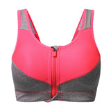 Sexy Shockproof Front Zipper Professional Sports Bras Wireless Yoga Bra For Women