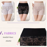 Women Sexy Transparent Embroidered Lace Panties Ultrathin Breathable Safety Leggings Underwear