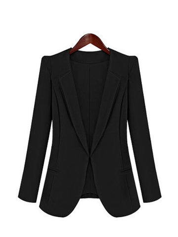 Casual Lapel Long Sleeve Fitted Autumn Jacket