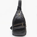 Men's PU Leather Crossbody Bag Leisure Capacity Shoulder Bag Chest Bag