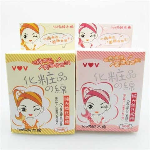 100Pcs Facial Cleansing Cotton Pad Natural Daily Puff Makeup Tool