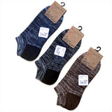Men's Cotton Line Retro National Style Boat Short Tube Socks 10 Pairs
