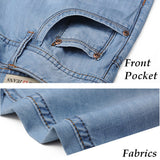 Summer Casual Loose Knee Length Jeans Straight Shorts For Men