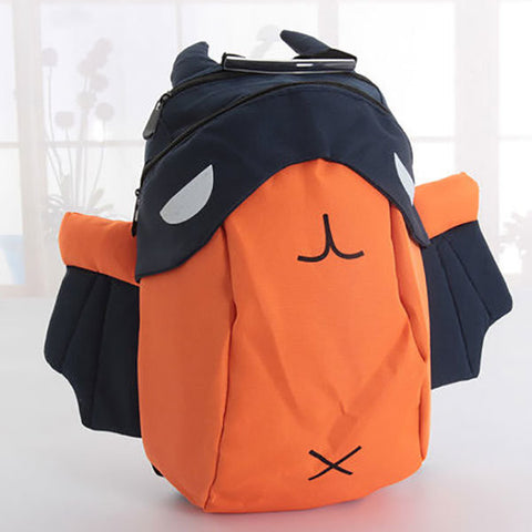 Children 3D Cartoon Canvas Backpack Kids Waterproof Zipper Bag Fashion Light Schoolbag