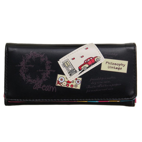 Cute Women Leather Long Wallet