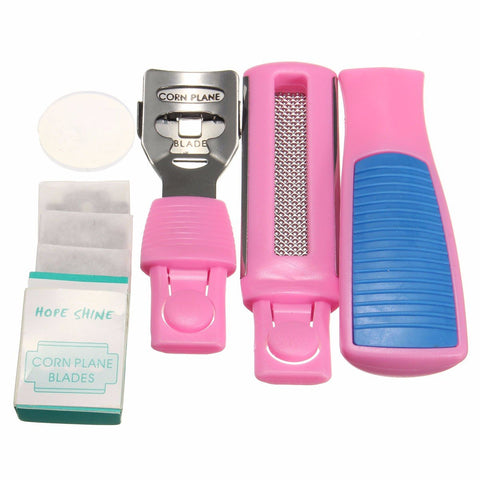 Foot Hard Skin Scraper Remover Pedicure Care Set Feet Callus Corn Shaver Blades