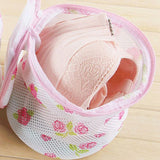 Zipper Printing Folding Bras Mesh Laundry Bag Underwear Washing Protect Bags