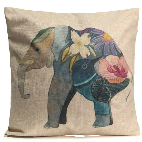 Fashion Animal Cotton Linen Throw Pillow Case Waist Cushion Cover Home Sofa Car Decor