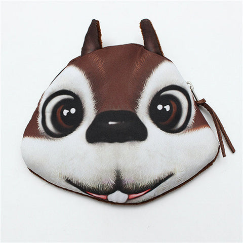 Creative Lovely Cartoon Animal Face Purse