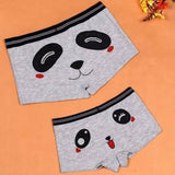 Couples Lover Cute Cartoon Panda Boyshorts Cotton Funny Character Modal Panties Underwear