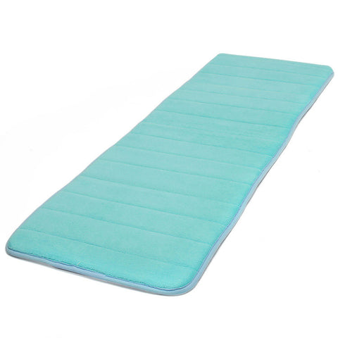 120x40cm Slow Recovery Foam Floor Mat Coral Velvet Anti Slip Absorbent Bath Door Carpet