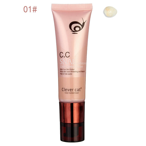 Snail Whitening CC Cream Control Cover Isolation Prevent Base Foundation 45ml