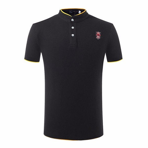 Big Size Casual Stand Collar Polo Shirts Solid Sports T-shirts For Men - shechoic.com