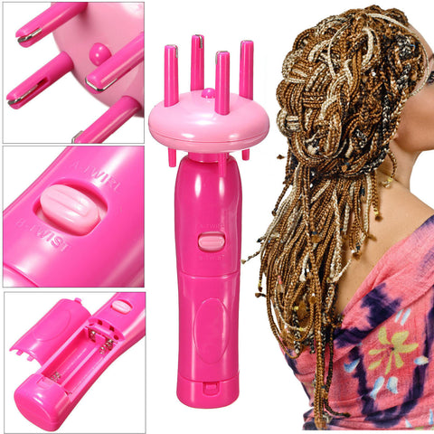 Automatic Handheld Hair Twist Braiding Braider Braid Machine Styling Tool