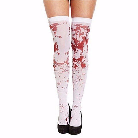 Halloween Makeup Socks Cosplay Darah Splattered Halloween Scary Props