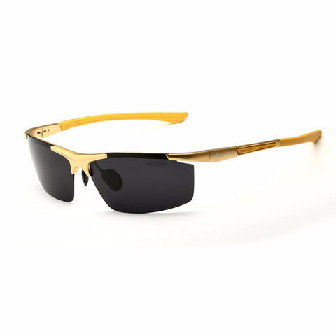 Aluminum Magnesium Alloy Sunglasses UV Protection Polarized Driving Outdoor Eyeglasses - shechoic.com