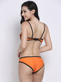 Women Sexy Bright Color Bikini Sets Neoprene Push Up Swimsuit