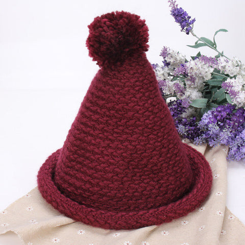 Cute Warm Ball Cap Christmas Hat Wool Cap Knitting Crochet Beanie Hat
