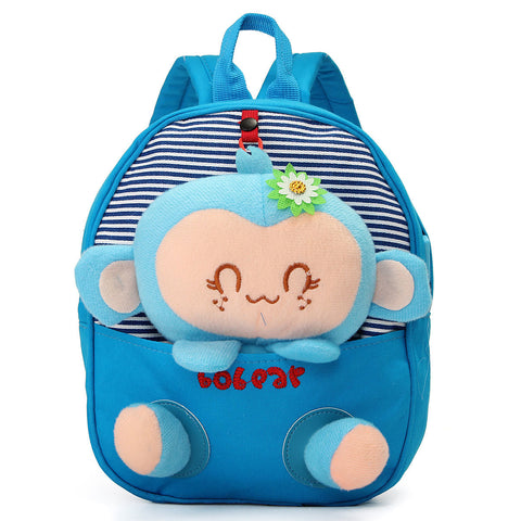 Mini 3D Kindergarten Kids Baby Children Cartoon Canvas Backpack Shoulder Animal Outdoor Schoolbags