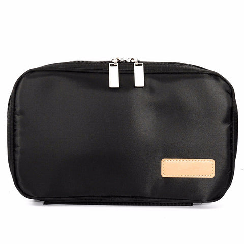 MSQ Black Portable Makeup Brush Bag Cosmetic Tool Large Storage Professional