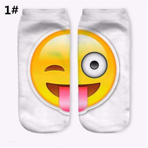Men Women Cotton Socks Ankle Socks Funny Stereoscopic 3D EMOJI Expression