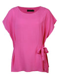 Casual Bating Sleeve Solid Color Slim T-Shirt For Women